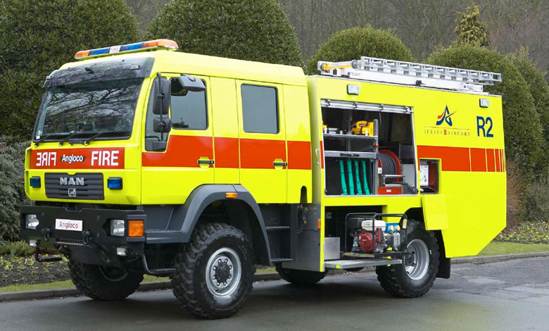 Secondary Media Airport Fire Fighting Vehicle
